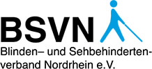 Logo des BSVN –Blinden- und Sehbehindertenverband Nordrhein
